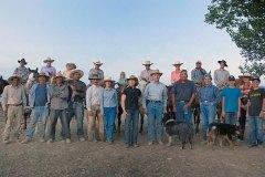 The 2007 branding crew of Bench Creek Ranch